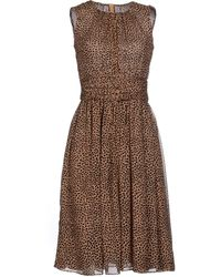 Michael Kors Knee Length Dress - Lyst