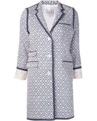 Sea Lace Jacquard Coat - Lyst