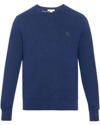 Burberry Brit - Claridge Fleece-lined Cotton-blend Sweatshirt - Lyst