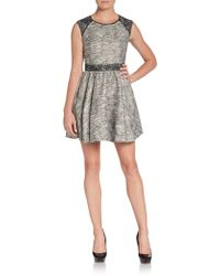 Rachel Zoe Marley Metallic Tweed Fit-and-flare Dress - Lyst
