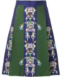 Mary Katrantzou Mecha Tiki Manprint Skirt - Lyst