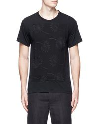 Ann Demeulemeester   Floral Embroidery Front T-shirt   Lyst