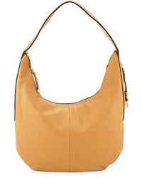 Halston Heritage Leather Slouch Hobo Bag brown - Lyst