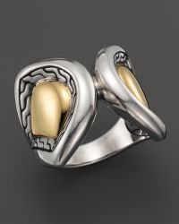 John Hardy Women'S 18K Gold And Sterling Silver Naga Large Scale Ring - Lyst