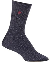 Ralph Lauren Angora Antique Texture Boot Socks with Embroidery - Lyst