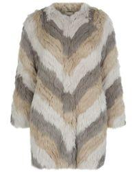 Max & Moi - Knitted Rabbit Fur Coat - Lyst