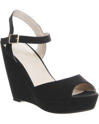 Office Watson Ankle Strap Wedge black - Lyst
