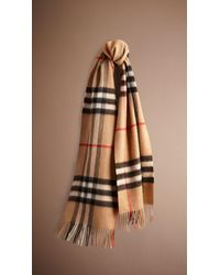 Burberry Heritage Check Cashmere Scarf - Lyst