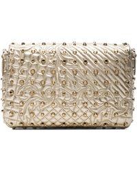 Versace Embossed Shoulder Bag with Tassle - Lyst