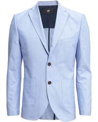 H&M Jacket Slim Fit blue - Lyst