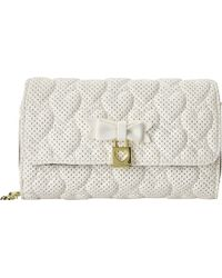 Betsey Johnson Always Be Mine Wallet On A String white - Lyst