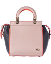 Givenchy   Beige Orange And Blue Leather Mini Hdg Bag   Lyst