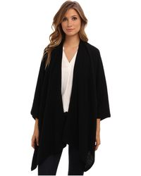 Nicole Miller Cashmere Poncho Sweater - Lyst