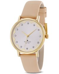 Kate Spade Scalloped Dial Metro Watch 34mm - Lyst