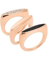 Michael Kors Rings, Set Of 3 pink - Lyst