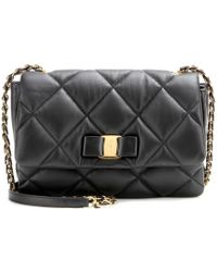 Ferragamo Gelly Quilted Leather Shoulder Bag - Lyst