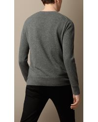 Burberry Heritage Detail Cashmere Sweater - Lyst