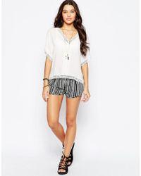 RVCA - Striped Printed Shorts - Black - Lyst