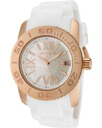 Swiss Legend - Women'S Commander White Mother Of Pearl Dial White Silicone - Lyst