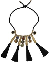 Etro Gold Plated Multistone Necklace - Lyst