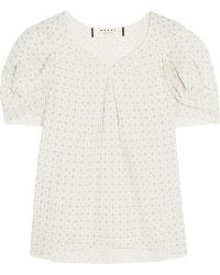 Marni Printed Cotton Top - Lyst