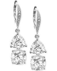Judith Jack Sterling Silver Crystal Double Drop Earrings - Lyst
