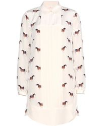 Tory Burch Manda Silk Printed Shirt Dress - Lyst