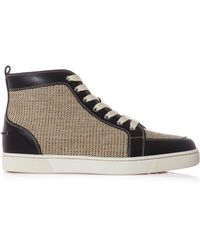 Christian Louboutin Rantus Leather Hightop Trainers - Lyst