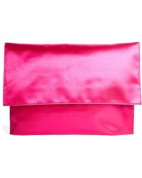 Asos Satin Foldover Clutch Bag - Lyst