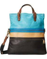 Fossil Brown Explorer Tote - Lyst