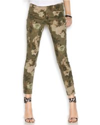 Guess Skinny Crop Jeans, Colored Wash - Lyst