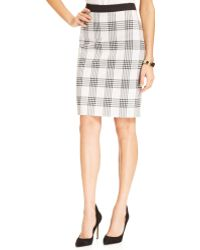 Jones New York Plaid Pencil Skirt - Lyst