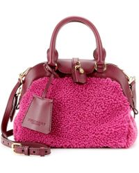 Burberry Prorsum - Small Milverton Shearling and Leather Tote - Lyst