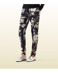 Gucci Flora Knight Print Silk Jogging Pant - Lyst