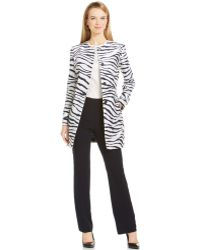 Jones New York Collection Printed Hidden-Button Trench Coat - Lyst