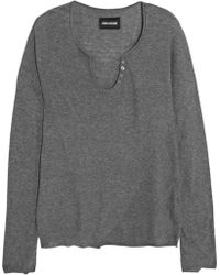 Zadig & Voltaire Celsa Printed Cotton Sweater - Lyst