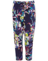 Karen Millen Floral Print Sporty Trousers floral - Lyst