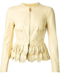 DSquared2 Scalloped Cropped Jacket - Lyst