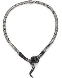 John Hardy | Legends Cobra Semi-precious Multi-stone, Diamond & Sterling Silver Necklace | Lyst