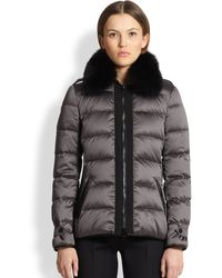 Burberry Redbury Fox Fur Puffer Jacket - Lyst
