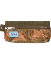 TOMS - Brown Geo Mix Peninsula Pencil Case - Lyst