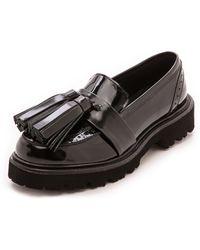 MSGM Tassle Loafers  Nero - Lyst