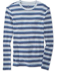 American Rag Striped Crew-neck Thermal Shirt - Lyst