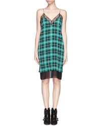 Sandro Silk Check Lace Dress - Lyst