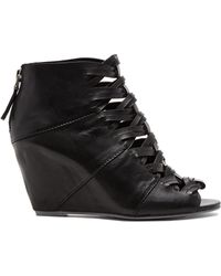 DV by Dolce Vita - Wedge Open Toe Booties - Sumner - Lyst