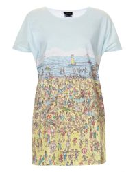 Topshop Wheres Wally Tee - Lyst