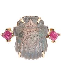 Silvia Furmanovich | Ruby And Labradorite Yellow-gold Ring | Lyst