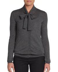 Dolce & Gabbana Wool Tieneck Cardigan - Lyst