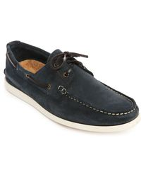 Selected Philip Navy Suede Boat Shoes - Lyst