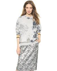 Preen Tile Sweatshirt Grey Roses - Lyst